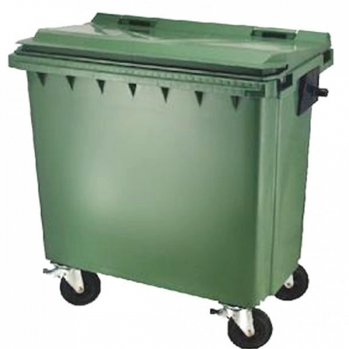 Collecte des d chets poubelles conteneur dechets 660 litres novaspark - Cache conteneur poubelle ...