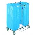 Chariot de ménage pliable Porte sac 2x120 litres